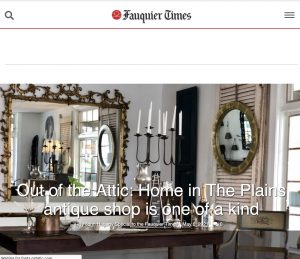 Fauquier Times - Home in The Plains, The Plains Virginia, Antiques, Cube Minerals, Highland Home and Garden, Baileywyck Antiques, Middleburg Antique Gallery, Salamander Spa, Salamander, Salamander Resort, Middleburg Virginia, Marshall Virginia, Haymarket Virginia, Gainesville Virginia, Leesburg Virginia, Lucketts, Reston Virginia